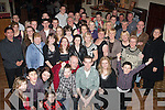 KEY TO THE DOOR: John Higgins, Killeen Woods, Tralee (seated centre) had a wild time for his 21st birthday party in the John Mitchels GAA clubhouse, Tralee last Saturday night surrounded by many family and friends.