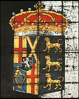 BNPS.co.uk (01202 558833)Pic: Bonhams/BNPS<br /> <br /> Stunning fragment of British history - An almost unique 'taffety' banner from Oliver Cromwell's 1658 state funeral hearse has emerged for sale for &pound;12,000. <br /> <br /> The fragile 360 year old silk 'escutcheon' is painted with his arms as Lord Protector of England, Scotland and Ireland and ironically surmounted by the Royal crown.<br />   <br /> Only four of these historic banners are known to have survived, and the other three are already in museums, making the auction a unique opportunity to own a fascinating item from British history.