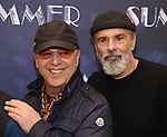 "Tommy Mottola and Bruce Sudano attends the Meet & Greet for ""Summer: The Donna Summer Musical"" on March 8, 2018 at the New 42nd Street Studios,  in New York City."