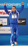Roma 2nd August 2009 - 13th Fina World Championships .From 17th to 2nd August 2009.Men's 50 Backstroke.Liam TANCOCK (GBR) Gold Medal.Roma2009.com/InsideFoto/SeaSee.com . .Foto Andrea Staccioli Insidefoto