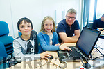 Enjoying Tralee CoderDoJo at Tralee ITT on Saturday were Ben Jones, Grace Riley and Dermot Riley