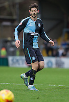Joe Jacobson of Wycombe Wanderers during the Sky Bet League 2 match between Wycombe Wanderers and Oxford United at Adams Park, High Wycombe, England on 19 December 2015. Photo by Andy Rowland.