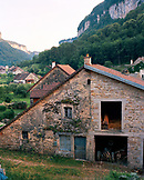 FRANCE, Baume les Messieurs, houses in the village of Baume les Messieurs, Jura Wine Region