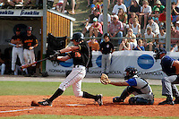 August 8, 2004:  New York Mets International Singing Kai Gronauer at bat while playing amateur baseball in Germany.  Gronauer, a catcher, signed with the Mets in 2008.  Photo By Gregor Eisenhuth/Four Seam Images