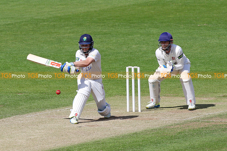 Mark Wallace in batting action for Glamorgan as James Foster looks on - Glamorgan CCC vs Essex CCC - LV County Championship Division Two Cricket at the SWALEC Stadium, Sophia Gardens, Cardiff, Wales - 20/05/15 - MANDATORY CREDIT: TGSPHOTO - Self billing applies where appropriate - contact@tgsphoto.co.uk - NO UNPAID USE