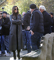 NEW YORK, NY November 07:Director Gary Ross, Sandra Bullock shooting on location for Ocean 8 in Central Park New York .November 07, 2016. Credit:RW/MediaPunch