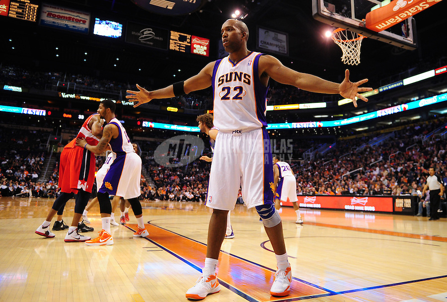 Feb. 20, 2012; Phoenix, AZ, USA; Phoenix Suns guard Michael Redd during game against the Washington Wizards at the US Airways Center. The Suns defeated the Wizards 104-88. Mandatory Credit: Mark J. Rebilas-.