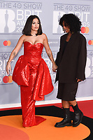 Mabel and Nenah Cherry<br /> arriving for the BRIT Awards 2020 at the O2 Arena, London.<br /> <br /> ©Ash Knotek  D3555 18/02/2020