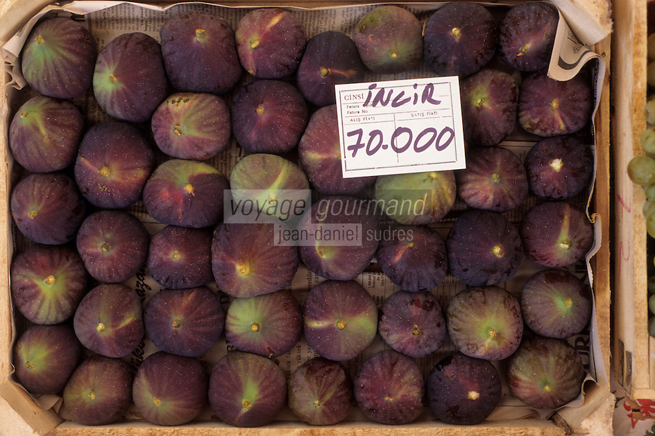 Europe/Turquie/Antalya : Marché - Détail figues fraiches