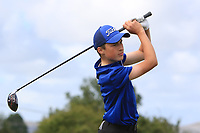 Darragh Cunningham (Tuam) on the 14th tee during the Final round in the Connacht U16 Boys Open 2018 at the Gort Golf Club, Gort, Galway, Ireland on Wednesday 8th August 2018.<br />