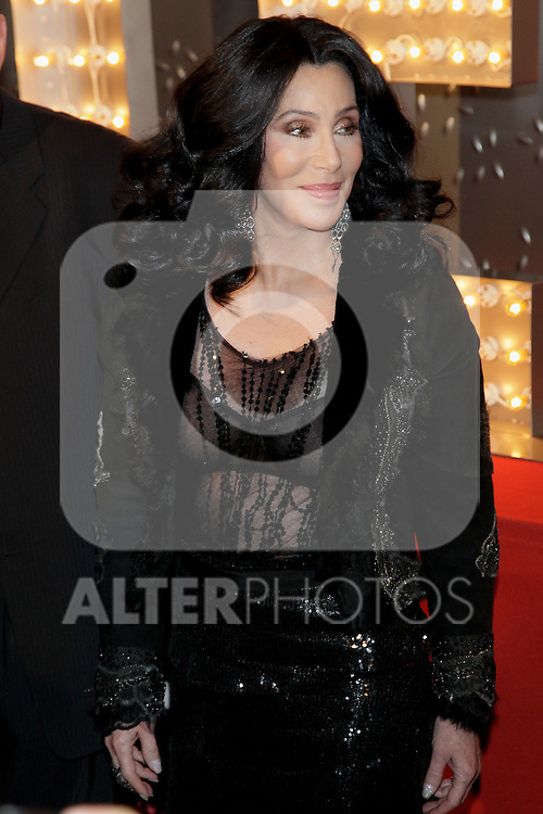 Cher attends premiere of 'Burlesque' in Madrid on December 9, 2010..Photo: MAC / ALFAQUI