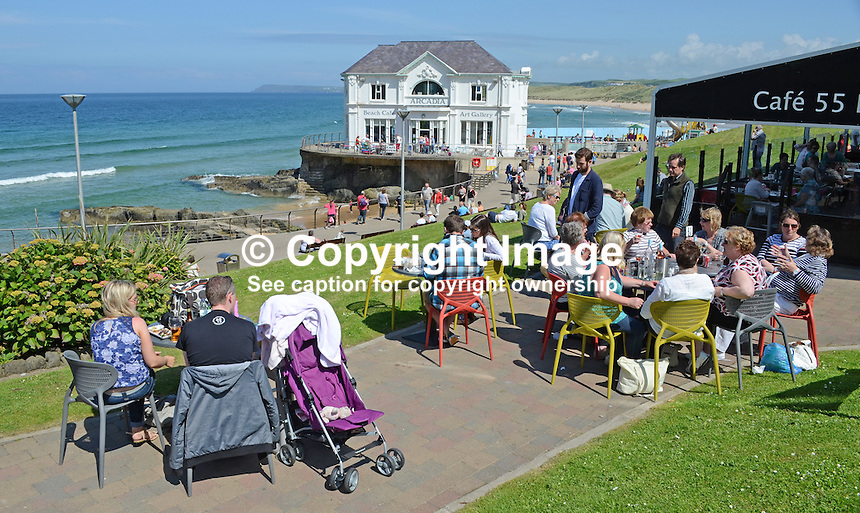 GV, general view, Arcadia, Portrush, Co Antrim, N Ireland, UK, 201406213165<br /> <br /> Copyright Image from Victor Patterson, 54 Dorchester Park, Belfast, UK, BT9 6RJ<br /> <br /> Tel: +44 28 9066 1296<br /> Mob: +44 7802 353836<br /> Voicemail +44 20 8816 7153<br /> w: victorpatterson.com<br /> <br /> e1: victorpatterson@me.com<br /> e2: victorpatterson@gmail.com<br /> <br /> <br /> IMPORTANT: Please see my Terms and Conditions of Use at www.victorpatterson.com