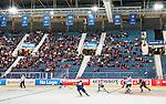 ***BETALBILD***  <br /> Stockholm 2015-09-04 Ishockey CHL Djurg&aring;rdens IF - EV Zug :  <br /> Vy &auml;ven Hovet med publik och tomma stolar under matchen mellan Djurg&aring;rdens IF och EV Zug <br /> (Foto: Kenta J&ouml;nsson) Nyckelord:  Ishockey Hockey CHL Hovet Johanneshovs Isstadion Djurg&aring;rden DIF Zug inomhus interi&ouml;r interior supporter fans publik supporters