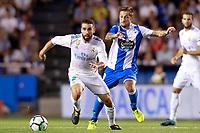 Deportivo de la Coruna's Fede Cartabia (r) and Real Madrid's Daniel Carvajal during La Liga match. August 20,2017.  *** Local Caption *** © pixathlon
