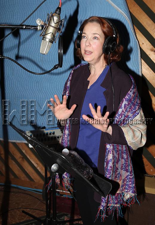 "Harriet Harris in the studio recording for the Original Broadway Cast Recording of Broadway's ""Rodgers & Hammerstein's Cinderella? at MSR Studios in New York City on 3/18/2013"