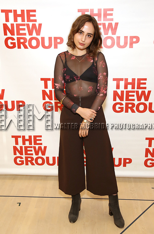 Sadie Scott attends the cast photo call for the New Group Production on 'Downtown Race Riot' on October 23, 2017 at The New 42nd Street Studios in New York City.