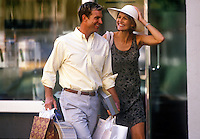 Upscale couple shopping.