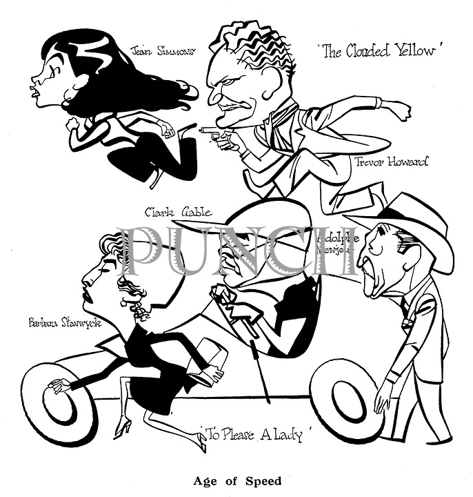 Age of Speed<br /> To Please a Lady ; Barbara Stanwyck , Clark Gable and Adolphe Menjou<br /> The Clouded Yellow ; Jean Simmons and Trevor  Howard