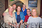 Race Goers at Cable O'Learys Bar on Friday night for Ballinskelligs Tourism Fundraising 'Race Night were l-r; Maureen O'Shea, Kevin O'Keeffe, Alice O'Keeffe, Mike Gill, Eamon Casey & Lorraine Callan.