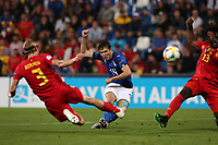 Federico Chiesa of Italy scores a goal<br /> Reggio Emilia 22-06-2019 Stadio Città del Tricolore <br /> Football UEFA Under 21 Championship Italy 2019<br /> Group Stage - Final Tournament Group A<br /> Belgium - Italy<br /> Photo Cesare Purini / Insidefoto