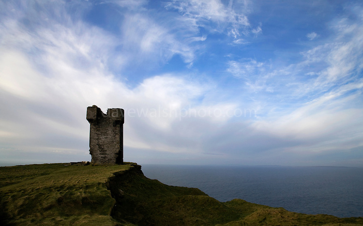 Moher Tower, at Hag's Head, at the Cliffs of Moher