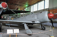 - air museum of Cracovia  (Poland), JAK 11 airplane(URSS, 1946)....- museo dell' aeronautica di Cracovia (Polonia), aereo YAK 11  (URSS, 1946)