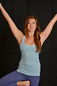Stock photography of Woman doing yoga