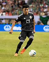 CHICAGO, IL - JULY 7: Jesus Gallardo #23 during a game between Mexico and USMNT at Soldiers Field on July 7, 2019 in Chicago, Illinois.