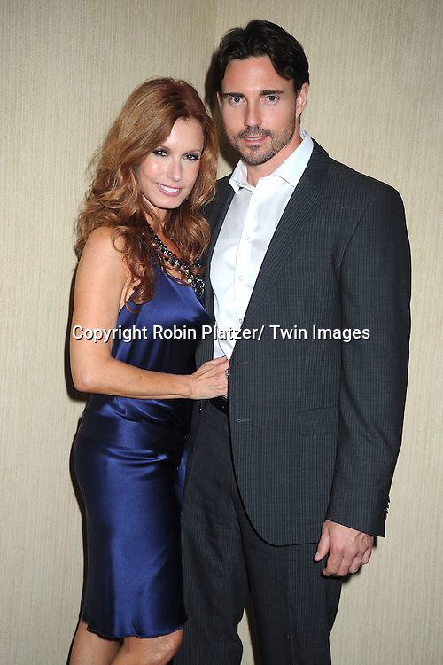 Tracey Bregman and boyfriend Aaron Cameron attends the  39th Annual Daytime Emmy Awards CBS after party  on June 23, 2012 at the Beverly Hilton in Beverly Hills, California. The awards were broadcast on HLN.