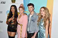LOS ANGELES, CA - JUNE 02: (L-R) Carvena Jones, Meghan Trainor, James Graham and Stephanie Zelaya arrive at the 2018 iHeartRadio Wango Tango by AT&amp;T at Banc of California Stadium on June 2, 2018 in Los Angeles, California.<br /> CAP/ROT/TM<br /> &copy;TM/ROT/Capital Pictures