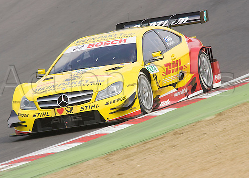 19.05.2012 Brands Hatch, David Coulthard driving the DHL Paket Mercedes C-Coupe in action during Saturday's Qualifying in the 2012 DTM Championship, Kent, England