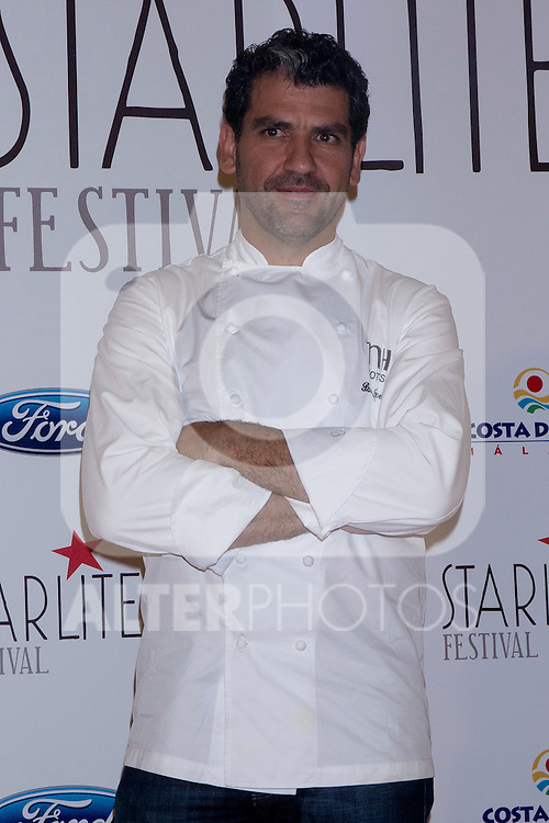 08.05.2012. Presentation of the Starlite Festival in the Casino de Madrid in the presence of some of the protagonists artists as Raphael, Lolita and Antonio Carmona, Paco Roncero for Bulli Catering, the Mayor of Marbella Ángeles Muñoz Uriol and producers of the project Sandra Garcia-Sanjuan and Ignacio Maluquer. The Starlite Festival will be held in Marbella from 13 July to 14 August. In the picture: Paco Roncero (Alterphotos/Marta Gonzalez)
