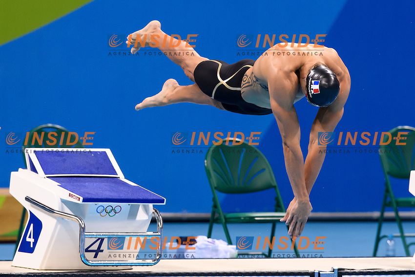 MANAUDOU Florent FRA Silver Medal <br /> Men's 50m Freestyle <br /> Rio de Janeiro 12-08-2016 Olympic Aquatics Stadium <br /> Swimming Nuoto <br /> Foto Andrea Staccioli/Deepbluemedia/Insidefoto