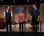 Jordan Sobel, Caitlin Gallingly and Christopher M. Smith during the Off-Broadway Opening Night of 'Fiercely Independent' at the Soho Playhouse on March 6, 2019 in New York City.
