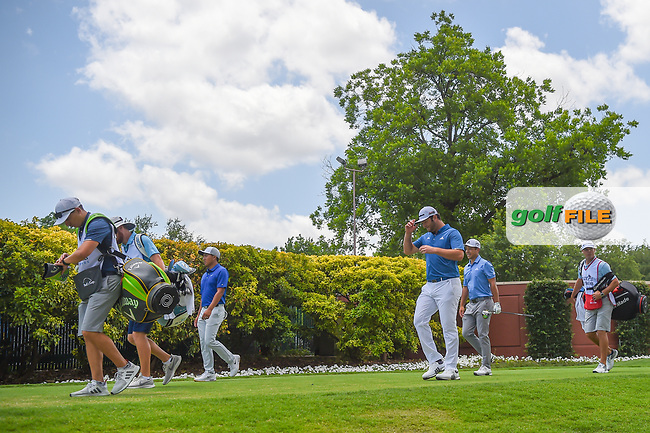 Jon Rahm (ESP) heads down 1 during round 1 of the 2019 Charles Schwab Challenge, Colonial Country Club, Ft. Worth, Texas,  USA. 5/23/2019.<br /> Picture: Golffile | Ken Murray<br /> <br /> All photo usage must carry mandatory copyright credit (© Golffile | Ken Murray)