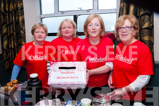 Valentine's Coffee Morning: Attending the Valentine's Coffee morniing in aid  of the North Kerr branch of the MS Society held at Tomasin's Bar, Liselton on Saturday morniing last were Jean Quille, Phil O'Dowd, Noelle Hegarty & Kate McGrath.