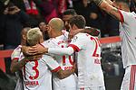 12.01.2018, BayArena, Leverkusen , GER, 1.FBL., Bayer 04 Leverkusen vs. FC Bayern M&uuml;nchen<br /> im Bild / picture shows: <br /> Torjubel / Jubel / Jubellauf,    Franck Ribery (Bayern Muenchen #7),  2:0 Rafinha (Bayern Muenchen #13),  Thomas M&uuml;ller / Mueller (Bayern Muenchen #25),   Arjen Robben (Bayern Muenchen #10),  <br /> <br /> <br /> Foto &copy; nordphoto / Meuter