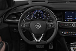 Car pictures of steering wheel view of a 2019 Opel Insignia-Grand-Sport GSI 5 Door Hatchback Steering Wheel