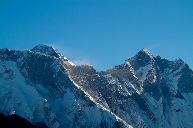 Mt Everest. Everest and Lhotse. Photo by Didrik Johnck.