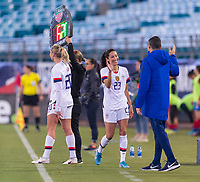 , FL - : Christen Press #23 high fives Vlatko Andonovski of the United States during a game between  at  on ,  in , Florida.