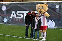 The first competitors in the new half time challenge during Stevenage vs Notts County, Sky Bet EFL League 2 Football at the Lamex Stadium on 11th November 2017