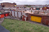 23/06/2000 Blackpool FC Bloomfield Road Ground.Kop visitors exit view towards the Mecca / Field St......© Phill Heywood.