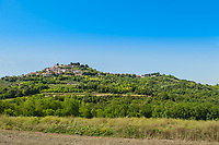 A view of the town of Motovun, Istria County, Croatia