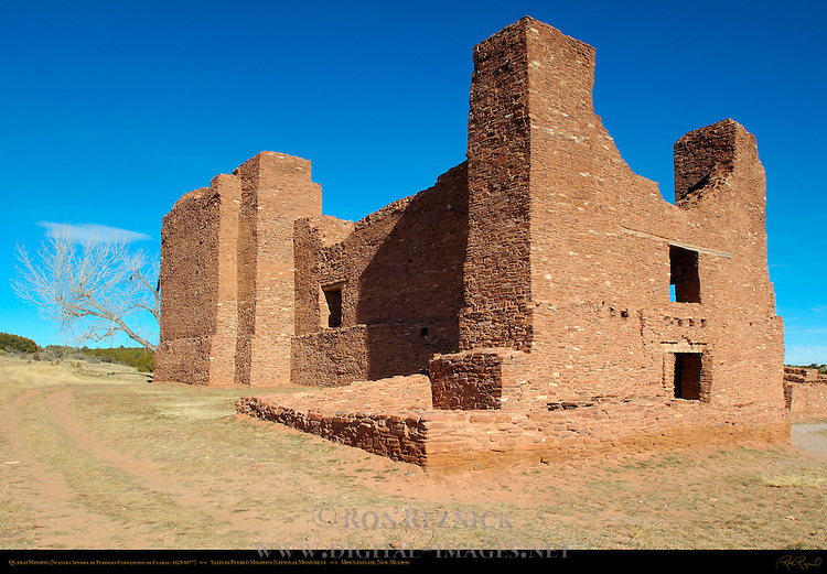 Quarai Mission, Nuestra Senora de Purisima Concepcion de Cuarac, Salinas Pueblo Missions National Monument, Mountainair, New Mexico