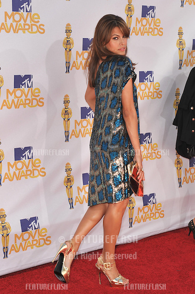 Eva Mendes at the 2010 MTV Movie Awards at the Gibson Amphitheatre, Universal Studios, Hollywood..June 6, 2010  Los Angeles, CA.Picture: Paul Smith / Featureflash