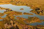 Aerial View of Umatilla National Wildlife Refuge in Morrow, Oregon