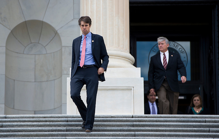 UNITED STATES - JUNE 14: Rep. Beto O'Rourke, D-Texas, walks down the House steps of the Capitol following the last votes of the week on Friday, June 14, 2013. (Photo By Bill Clark/CQ Roll Call)