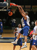 Tyler Adams at the NBPA Top100 camp at the John Paul Jones Arena Charlottesville, VA. Visit www.nbpatop100.blogspot.com for more photos. (Photo © Andrew Shurtleff)