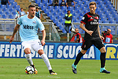 September 10th 2017, Olimpic Stadium, Rome, Italy; Serie A football league, Lazio versus AC Milan;   Sergej Milinkovic cust away from his defender