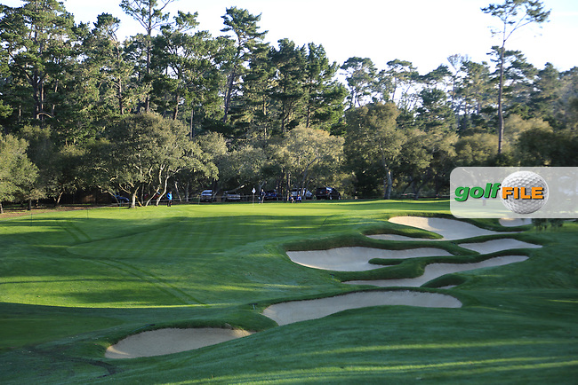 A general view of the 11th hole Spyglass Hill Golf Course during the first round of the AT&T Pro-Am, Pebble Beach Golf Links, Monterey, California, USA. 07/02/2019<br /> Picture: Golffile | Phil Inglis<br /> <br /> <br /> All photo usage must carry mandatory copyright credit (© Golffile | Phil Inglis)